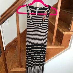 Michael Stars Black & tan striped maxi dress sz S